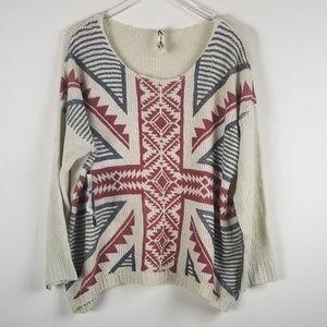 Seven7 Tops - Seven7//Desert sand knitted sweater sz XL
